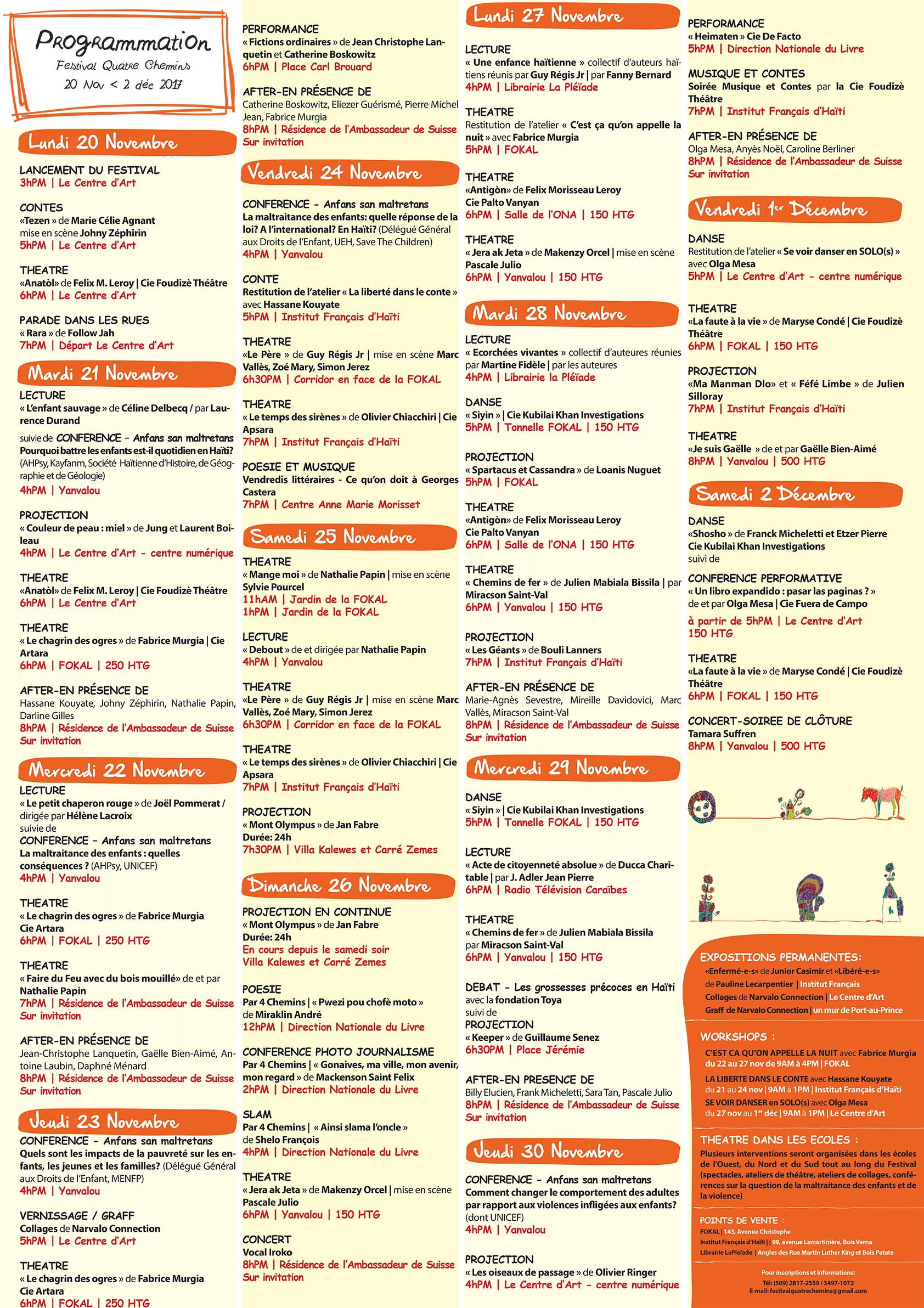 Calendrier Festival.Icihaiti Rappel 14eme Edition Du Festival De Theatre 4
